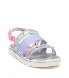 Girls Lucite Pastel Olympic Sandals