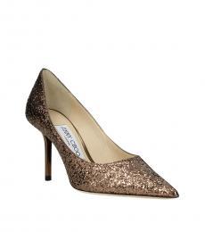 Jimmy Choo Brown Love Glitter Heels