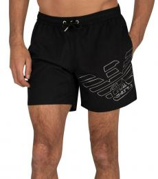 Emporio Armani Black Boxer Swim Shorts