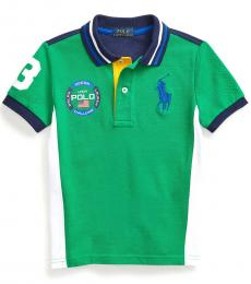 Ralph Lauren Little Boys Chroma Green Big Pony Polo