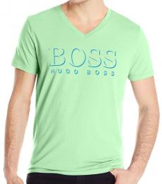 Hugo Boss Green Graphic Premium Cotton T-Shirt