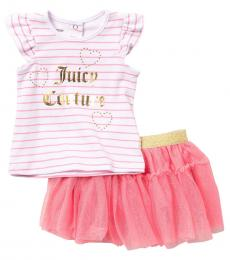 Juicy Couture 2 Piece Top/Skirt Set (Baby Girls)