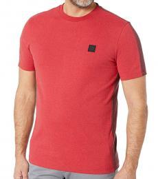 Hugo Boss Red Tevided Logo T-Shirt