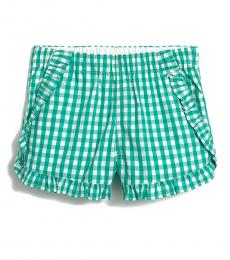 J.Crew Little Girls Green Gingham Shorts