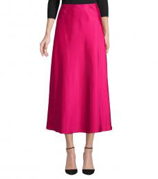 Rebecca Minkoff Fuchsia Side-Zip Midi Skirt