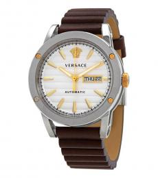 Versace Brown Automatic White Dial Watch