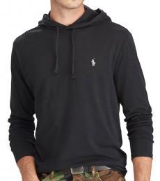 Ralph Lauren Black Jersey Hooded T-Shirt