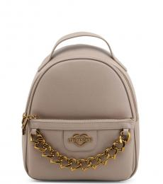 Love Moschino Grey Chain Small Backpack