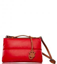 Red Genuis Medium Messenger Bag