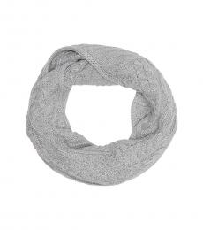 Michael Kors Pearl Heather Cable Knit Infinity Scarf
