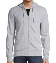 Michael Kors Grey Full-Zip Cotton Hoodie