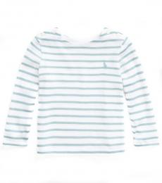 Ralph Lauren Baby Girls Cast Green Multi Striped T-Shirt