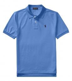 Ralph Lauren Boys Blue Mesh Polo