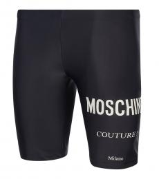 Moschino Black Logo Swimming Tights