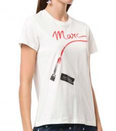 Marc Jacobs Metallic Round Neck Logo T-Shirt
