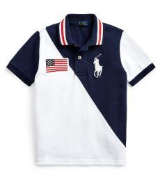 Ralph Lauren Little Boys White Big Pony Mesh Polo