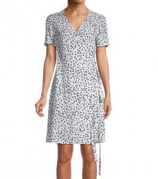 Diane Von Furstenberg Floret Ivory Saville Printed Wrap Dress