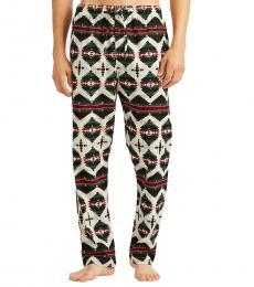Ralph Lauren Multicolot Print Flannel Pajama Pant