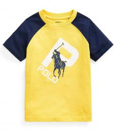 Ralph Lauren Little Boys Yellow Print-Changing T-Shirt