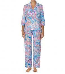 Ralph Lauren Multipais Floral Print Pajama Set