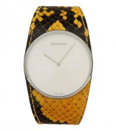 Calvin Klein Yellow Spellbound Logo Watch