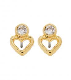 Gold Open Stud Earrings