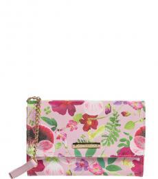 Betsey Johnson Light Pink Sam Floral Small Crossbody Bag
