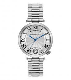 BCBGMaxazria Silver Crystal Embellished Watch