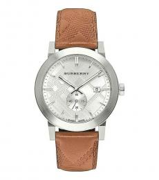 Burberry Brown City Embossed Check Watch