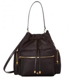 Ralph Lauren Black Debby Medium Bucket Bag
