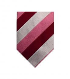 Burberry Red Pink Bold Stripes Tie