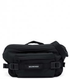 Balenciaga Black Logo Large Crossbody Bag
