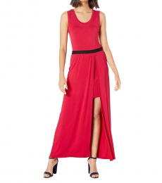 BCBGMaxazria Sangria Twofer Knit Maxi Dress