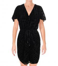 Ralph Lauren Black Fedarick Velvet Illusion Dress