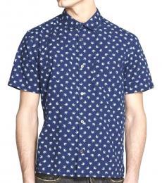 Marc Jacobs Dark Blue Short Sleeve Shirt