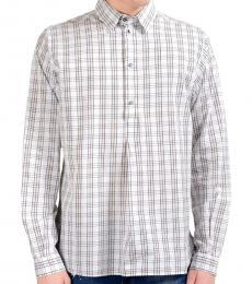 Dolce & Gabbana White Plaid Shirt