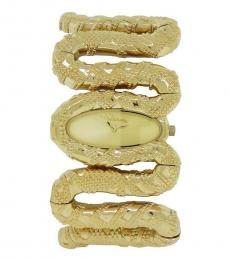 Gold Cleopatra Snake Watch