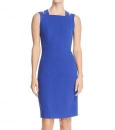 Bright Blue Daphima Sheath Dress