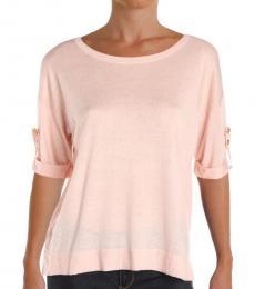 Ralph Lauren Light Pink Knit Crop Sweater Top