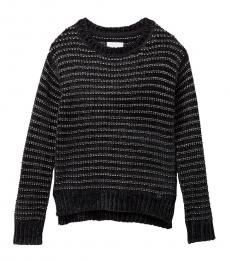 BCBGirls Girls Black Striped Knit Sweater