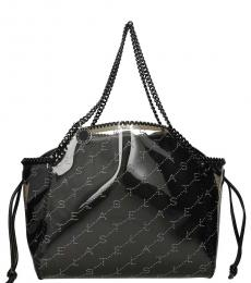 Stella McCartney Black Falabella Monogram Large Tote