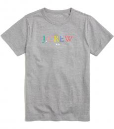 J.Crew Little Boys Grey Rainbow Logo T-Shirt