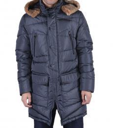 Grey Down Parka Jacket