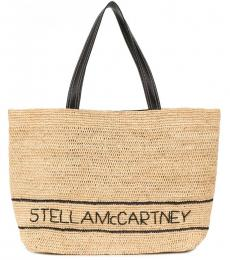 Stella McCartney Beige Rafia Large Tote