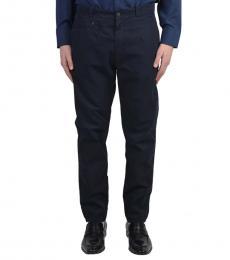 Dolce & Gabbana Dark Blue Cotton Casual Pants
