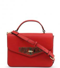 Love Moschino Red Turnlock Small Satchel