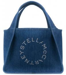 Stella McCartney Denim Logo Large Tote