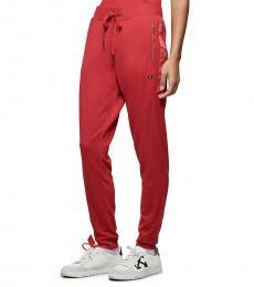 True Religion Ruby Red Logo Trim Jogger