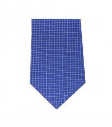 Michael Kors Blue Streamline Check Slim Tie