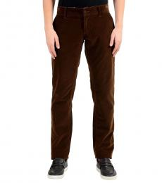 Dark Brown Corduroy Casual Pants